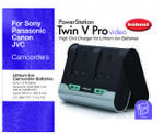 Hahnel carregador TWIN V PRO VIDEO