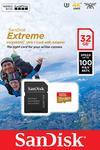 Sandisk cartao Extreme MicroSDHC 32GB 100MB Action Cameras V30